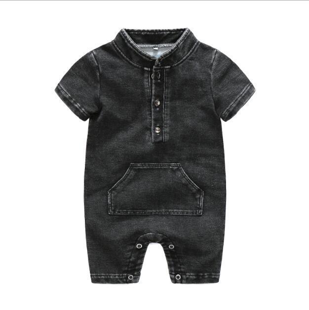 2020 novo best-venda de roupas menino fabricante de capa dura de manga curta sólida tamanho 80-95cm babador de verão para crianças