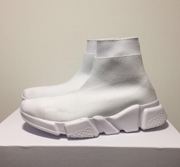 El nuevo diseñador de zapatillas de deporte de velocidad Runner forman los zapatos de calcetín Triple Negro Botas Rojo plana Trainer Hombres Mujeres Zapatos Casual Deporte de polvo D02