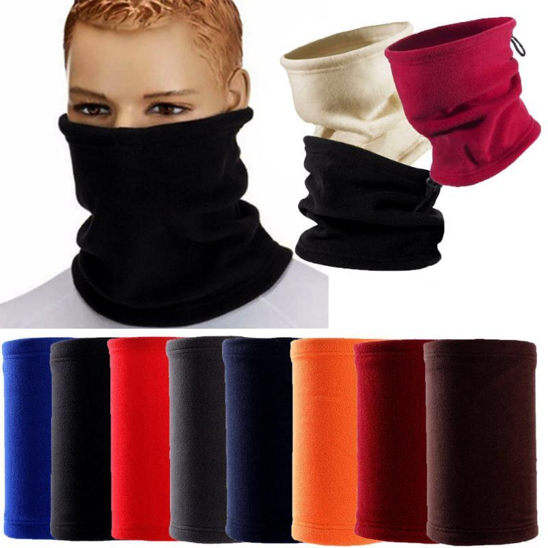 Открытый флис шея Gaiter грелка горловина маска для лица маски Мужчины Женщины Зимних походов шарф Кемпинг Велоспорт лицо