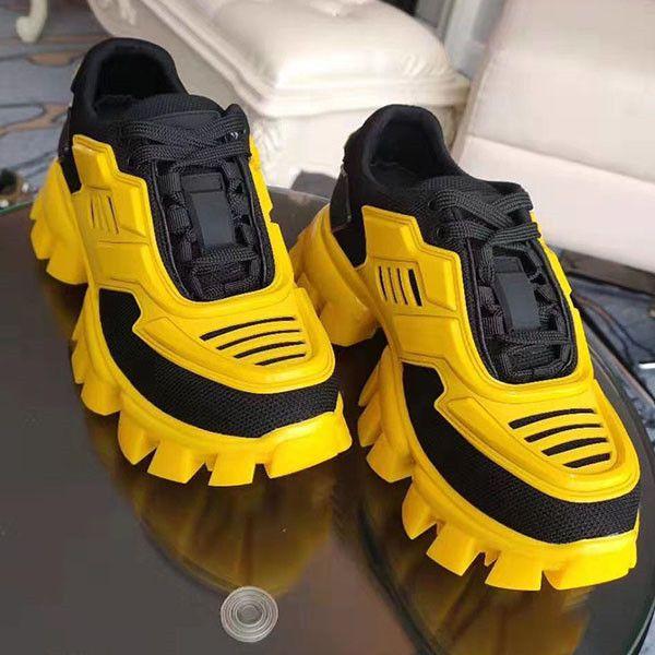 Balenciaga 2020 sıcak yeni ayakkabı tasarımcısı kadın ve erkek Cloudbust Thunder örme tasarımcı boy kadın ayakkabıları hafif kauçuk taban 3D gündelik xshfbcl
