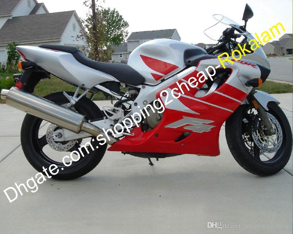 혼다 COWLING CBR600 F4 CBR 600 CBRF4 600F4 MOTO 애프터 마켓 키트 페어링 레드 그레이 99 00 1999 2000 (사출 성형)