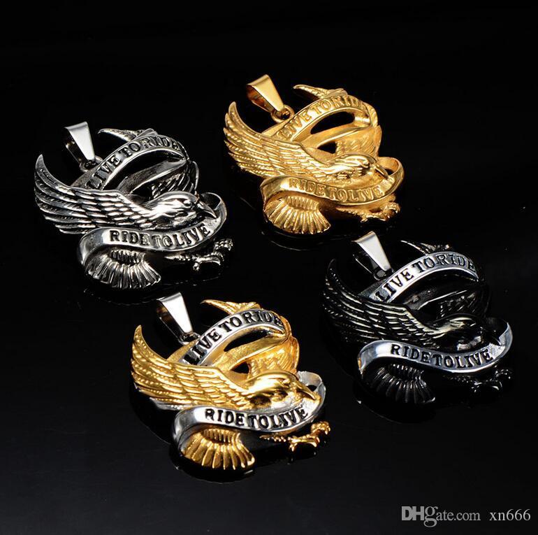 Europäische und amerikanische Edelstahl Herren-Halskette Adleranhänger direkt ab Werk Batch