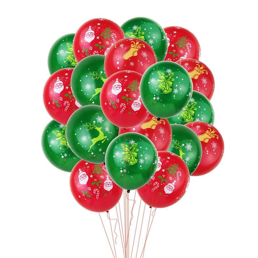 12 дюймов Печатные латексные шары Рождество Санта Клаус Печать партия шар Xmas Snow Party Supplies фестиваль украшения