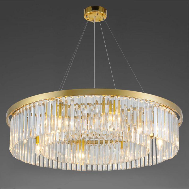 LED Kristall Wohnzimmer runden Kronleuchter Europäischen kreative Persönlichkeit Raum Halle des einfachen atmosphärischen Restaurant Kronleuchter Lampen FEDEX