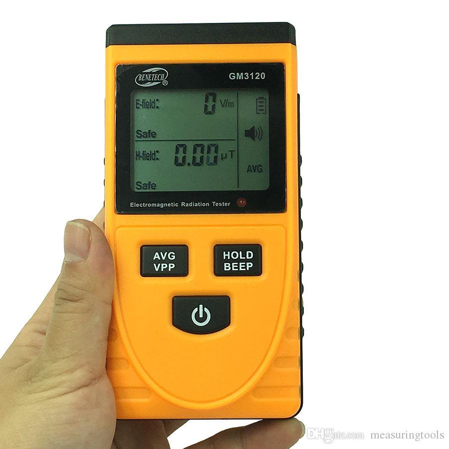 GM3120 전자기 방사선 시험기 전자기 EMF 자기 전기장 Microtesla V / M 테스터 미터 탐지기
