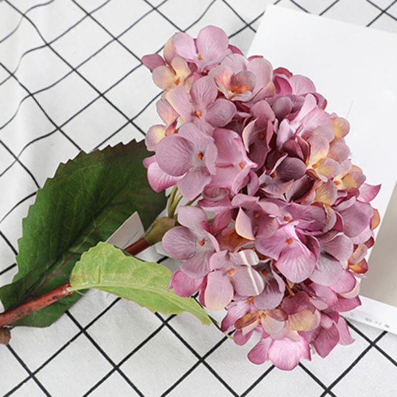 1 Pcs Artificial Hydrangea decorativa Floral Bouquet for Wedding Party Home Decor DEC889