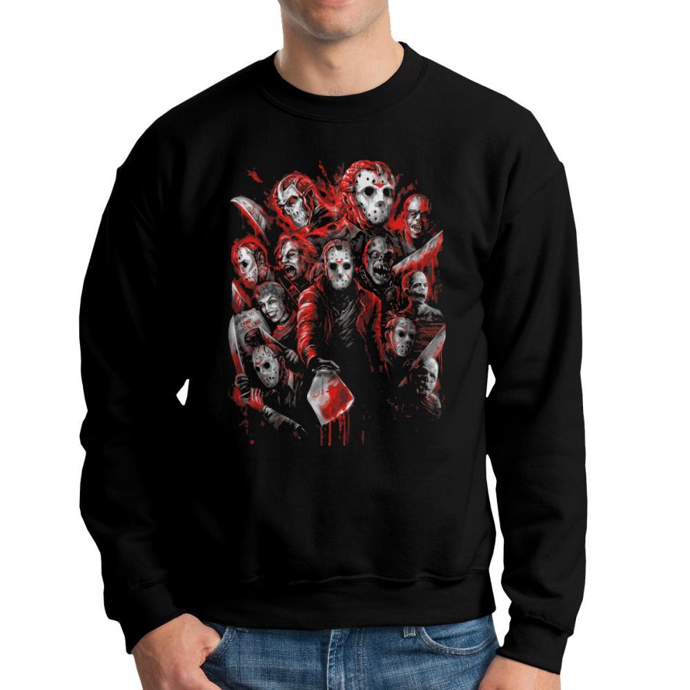 Jason Voorhees Horror Michael Myers Friday Felpe The 13th Men Pullover 100% Cotton Girocollo Abbigliamento stampato Felpa con cappuccio