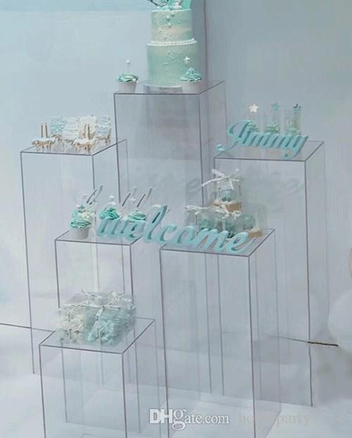 زهرية الأكريليك واضحة حامل زهرة باقة تقف الزفاف المركزية نافذة الحرفية عرض الممر الطريق يؤدي زهور الزفاف الخلفيات