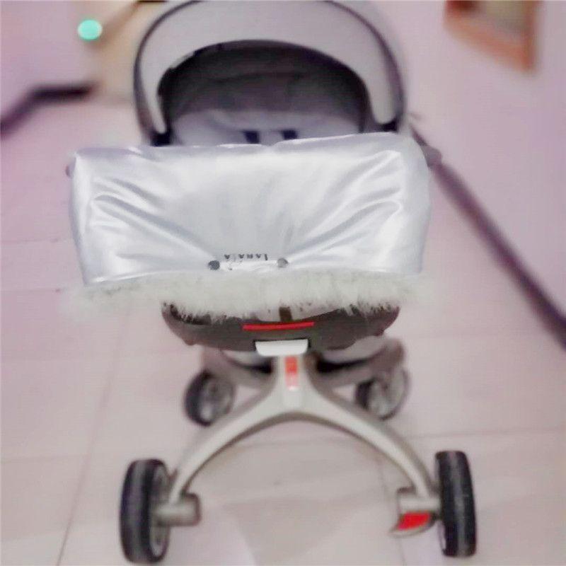 uso para dsland stok doux peles reais muff couro quente mão do bebê carrinho de criança acessórios luvas luvas prova enrolador à prova de água