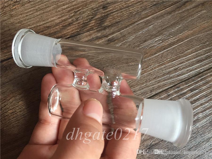 H Bent bong adaptateur RECLAIM CATCHER ADAPTER 18mm 14mm mâle à femelle mâle à femelle mâle à femelle eau en verre Tubes Bangs bols