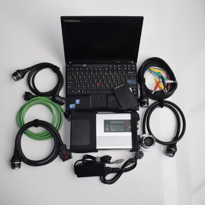 Estrela de diagnóstico Ferramenta Compact 5 MB SD C5 Software SSD Super Speed com X201T Laptop I7 4G Pronto para uso