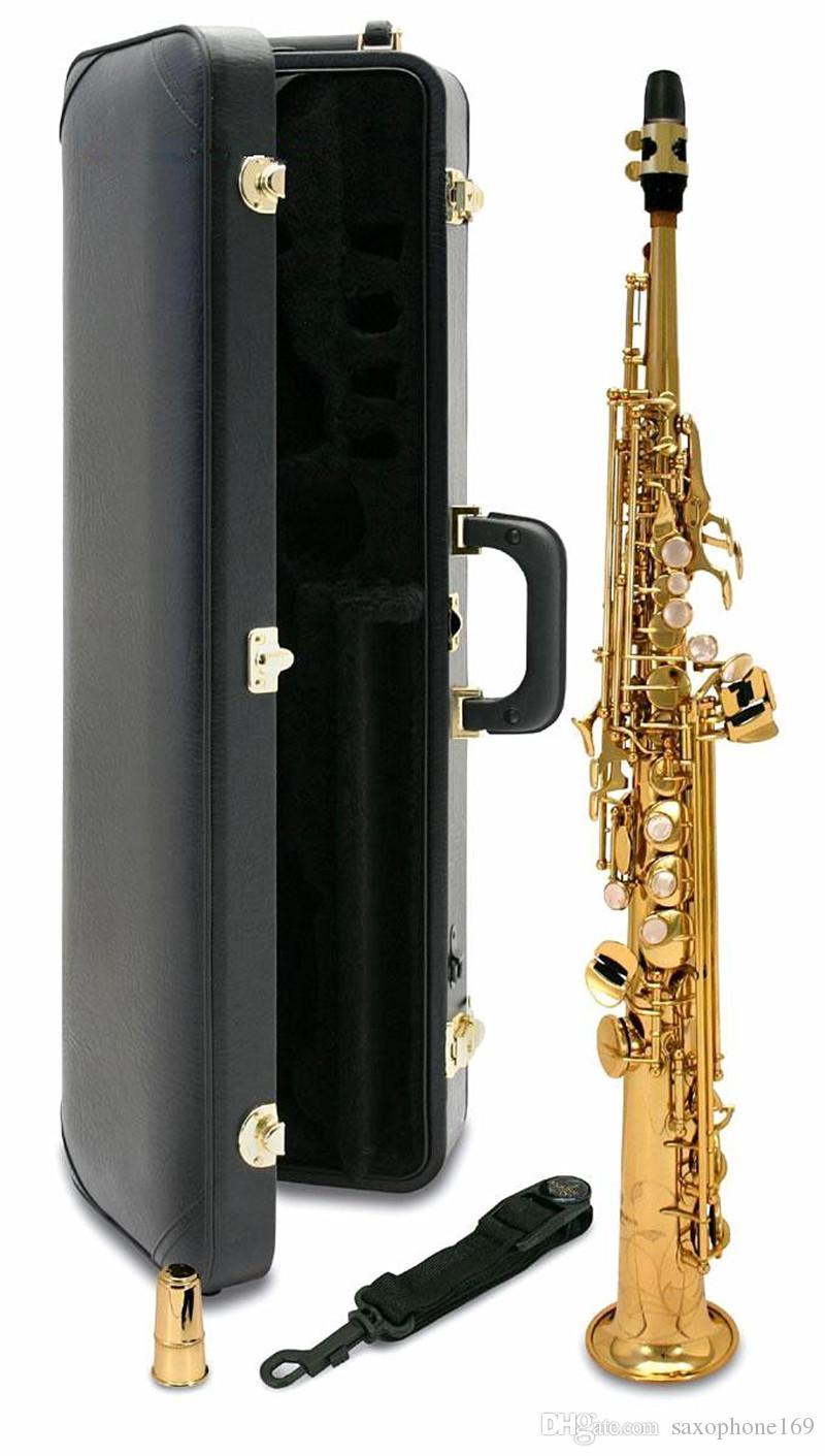 saxofón YANAGISAWA S901 New Japan Bb Soprano plana de alta calidad instrumentos musicales Soprano envío profesional