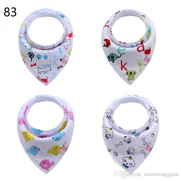Funky Organic Cotton Cool Soft Ideal Baby Boy Bandana Dribble Burp Babs Lot Designs Para los bebés al por mayor Unisex Unisex Baby Clock Cloth