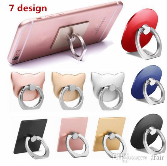 Sostenedor del anillo de dedo universal del teléfono celular 360 grados de agarre del teléfono móvil Soporte Lazy hebilla para el iphone 11 Pro XS MAX XR X 8 7 Smartphone Soporte