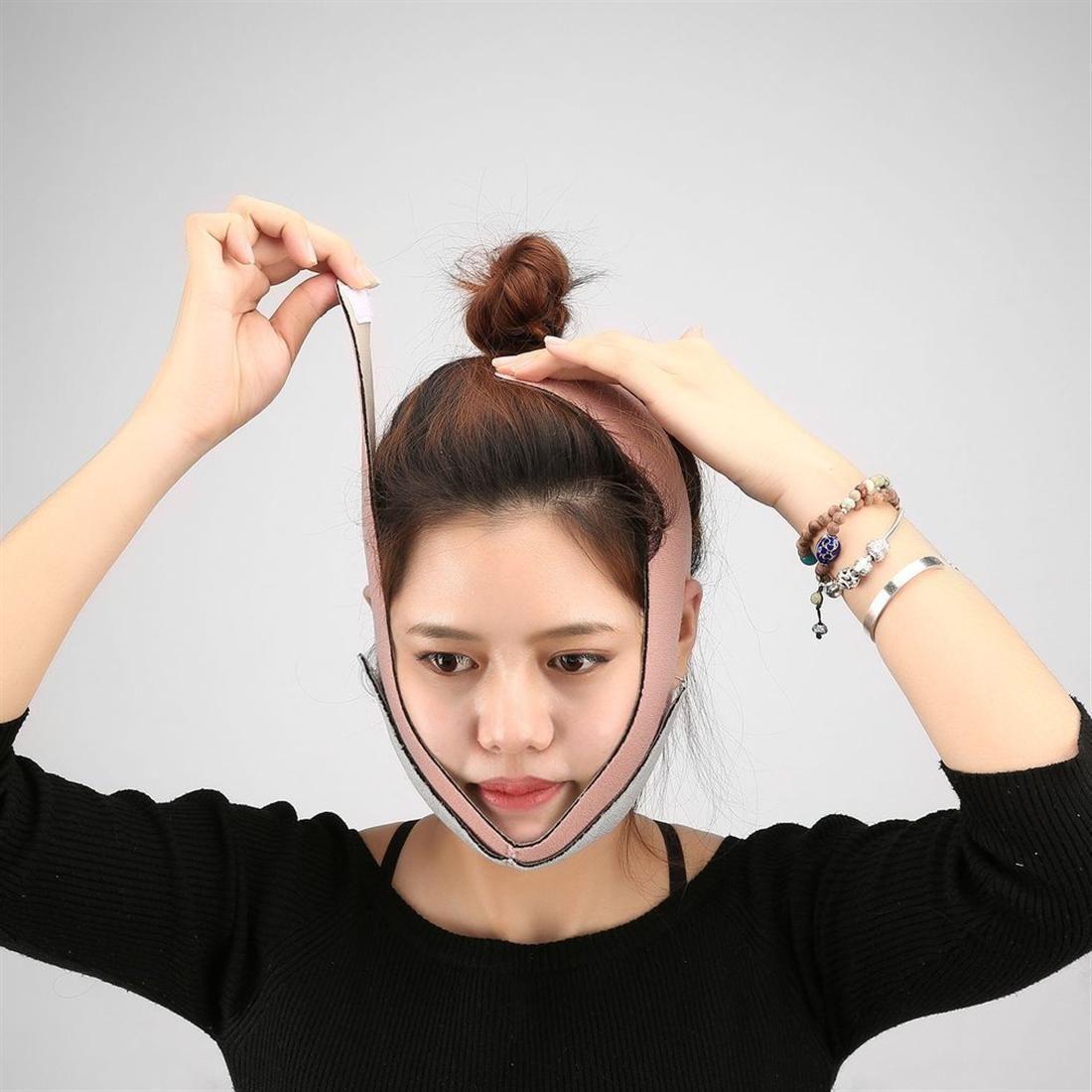 Yüz Maskesi Yüz Zayıflama Bandaj Yüz Masajı Çene Yanak V Yüz Germe Ince Kemer Ince Maske Masaj