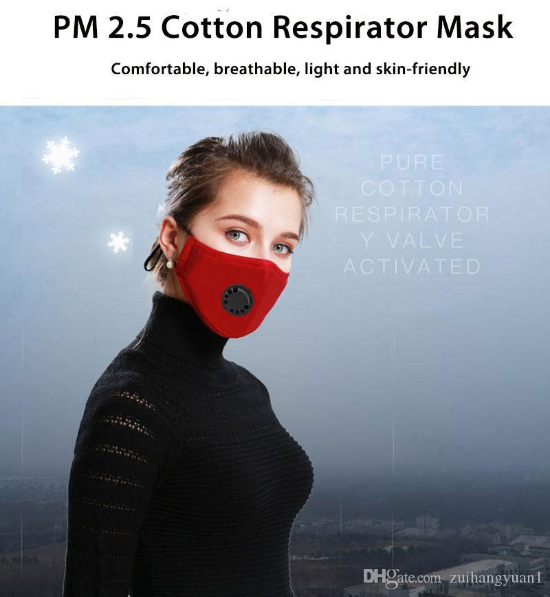 PM2.5 Anti Pollution Mask Air Filter Activated Carbon Mouth Face Mask Respirator Anti Haze Anti Allergy Dust Black Mask new