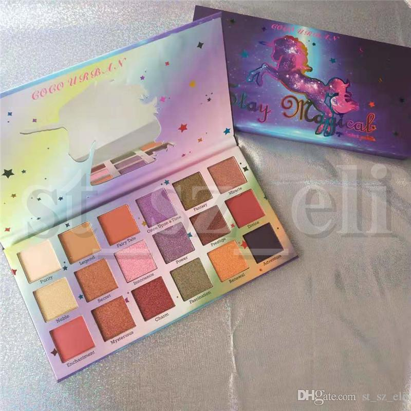 COCO URBAN Eye Makeup Matte Shimmer Eyeshadow Palette Preseed Pigment Stay Magical 18 Colors Eye Shadow Palette