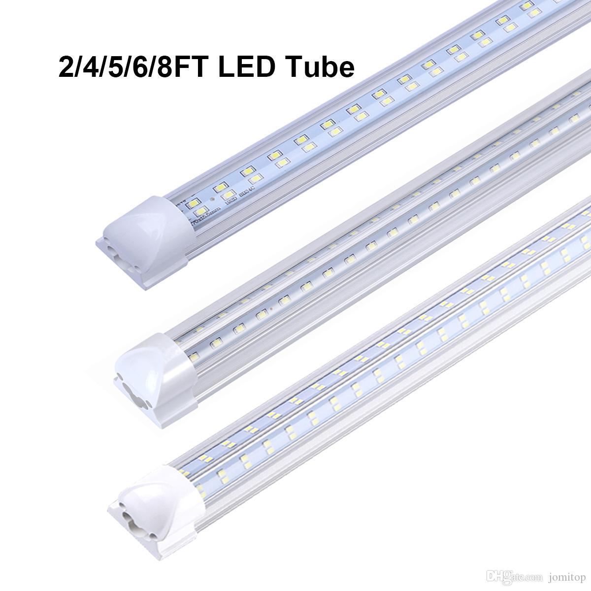 T8 LED-Röhre 1.2M 1.5M 1.8M 2.4M zweireihig V-Form-LED Kühle Tür Energie-Glühlampe AC85-265V