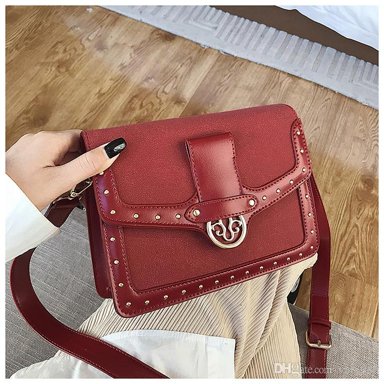 2019 novas bolsas de couro Plain Vintage Lady Vintage saco famoso designer de alta qualidade Moda Pequeno Shopper Bag Tianyi / 11