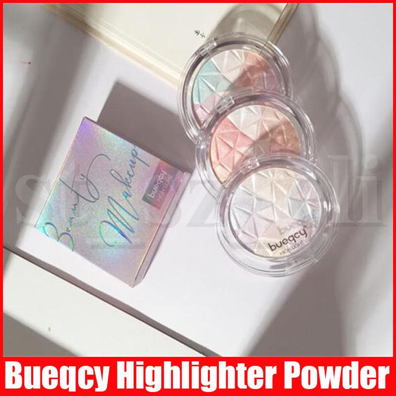 Bueqcy Face Professional Illuminator Highlighters Bronzers Pressed Powder Multi Color Highlight Contour Shadow Makeup Easy to Wear 3 Styles