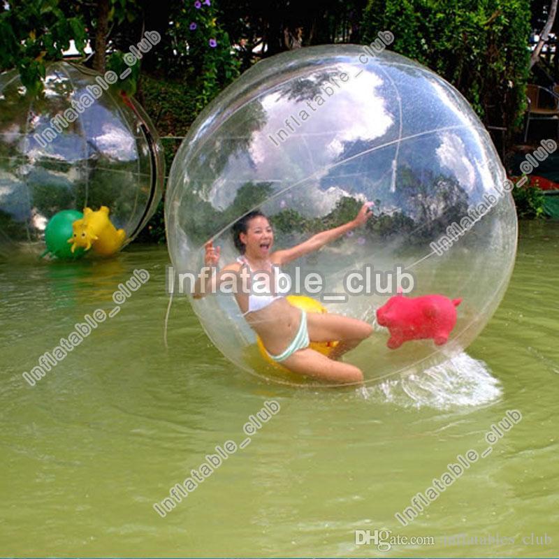 2m قطر كرة الماء للنفخ أعلى جودة المياه المشي الكرة للأطفال والكبار بكرة الماء الكرة للألعاب تجمع والنهر