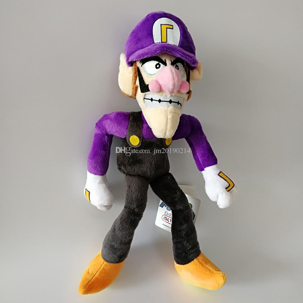 Luigi Bros 28cm Waluigi Soft-Puppe-Plüsch-Spielzeug für Kinder Weihnachten Halloween besten Geschenke