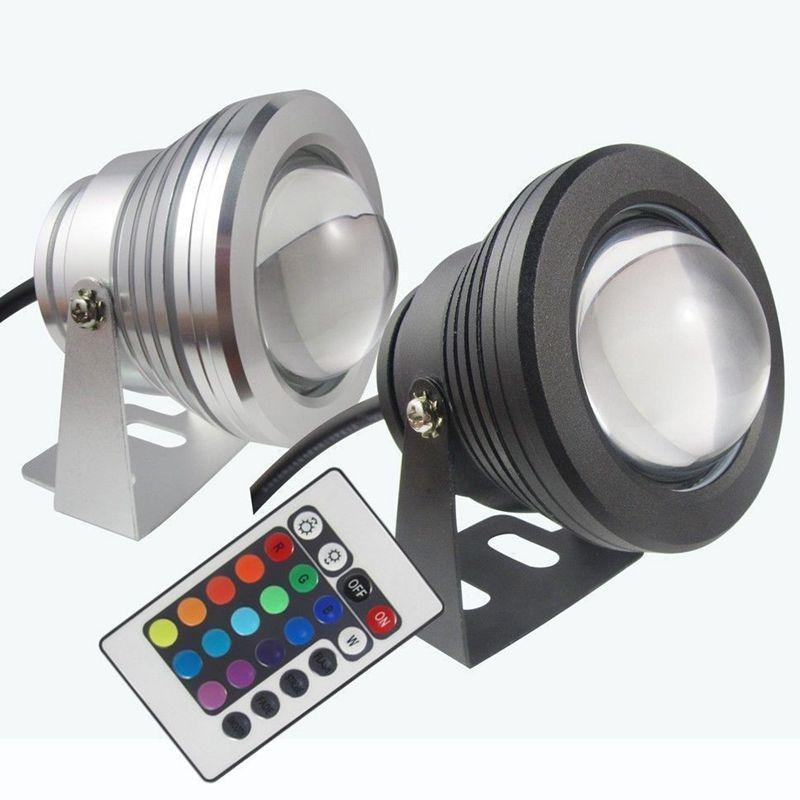 LED 수중 라이트 RGB 10W 12V LED 수중 빛 (16 개) 색상 1000LM 방수 IP68 분수 풀 램프 파티 장식 CCA11730 연습장