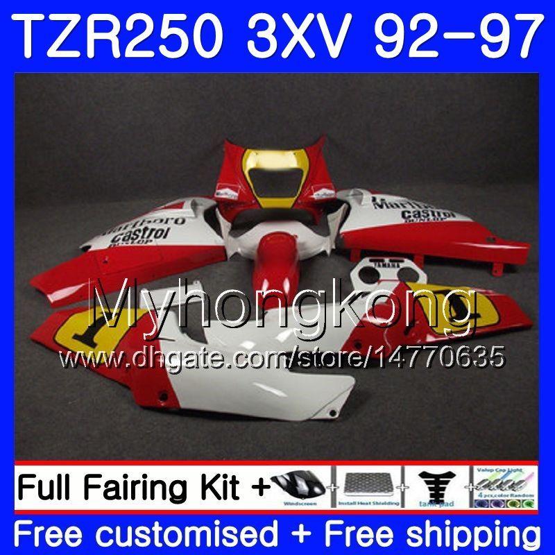 키트 야마하 라이트 화이트 레드 TZR250RR RS TZR250 92 93 94 95 96 97 245HM.25 TZR 250 3XV YPVS TZR 250 1992 1993 1994 1995 1996 1997 페어링