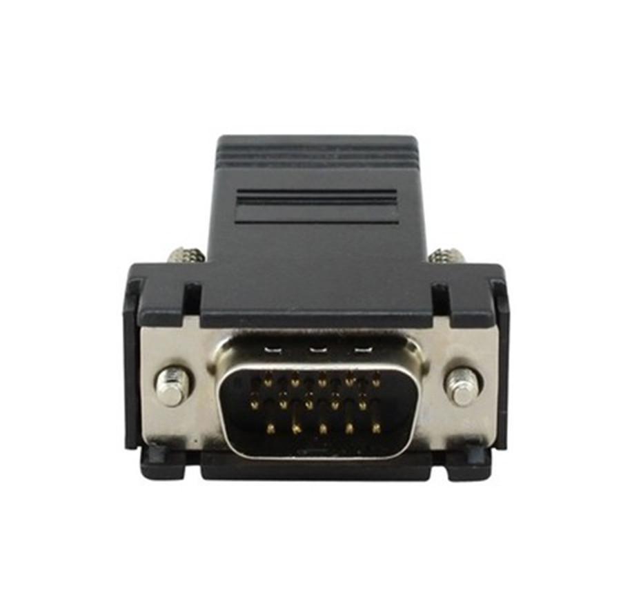RJ45 к VGA Extender мужчина к LAN CAT5 CAT6 RJ45 сетевой кабель Ethernet женский адаптер компьютер дополнительный переключатель конвертер