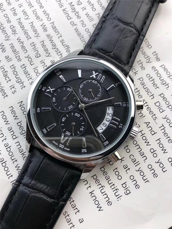 de Moda Casual Sports Marca Men Date relógio automático All Dial Homens de Trabalho relógio de quartzo