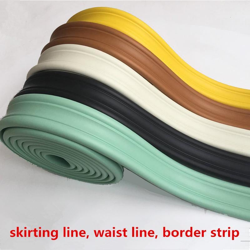 3D parede stereo adesivos linha de cintura borda bandas parede fundo da pintura faixa de fronteira crianças do jardim de infância auto-adesivas