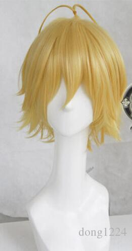Free shipping nanatsu no taizai gold party anime hair cosplay wig