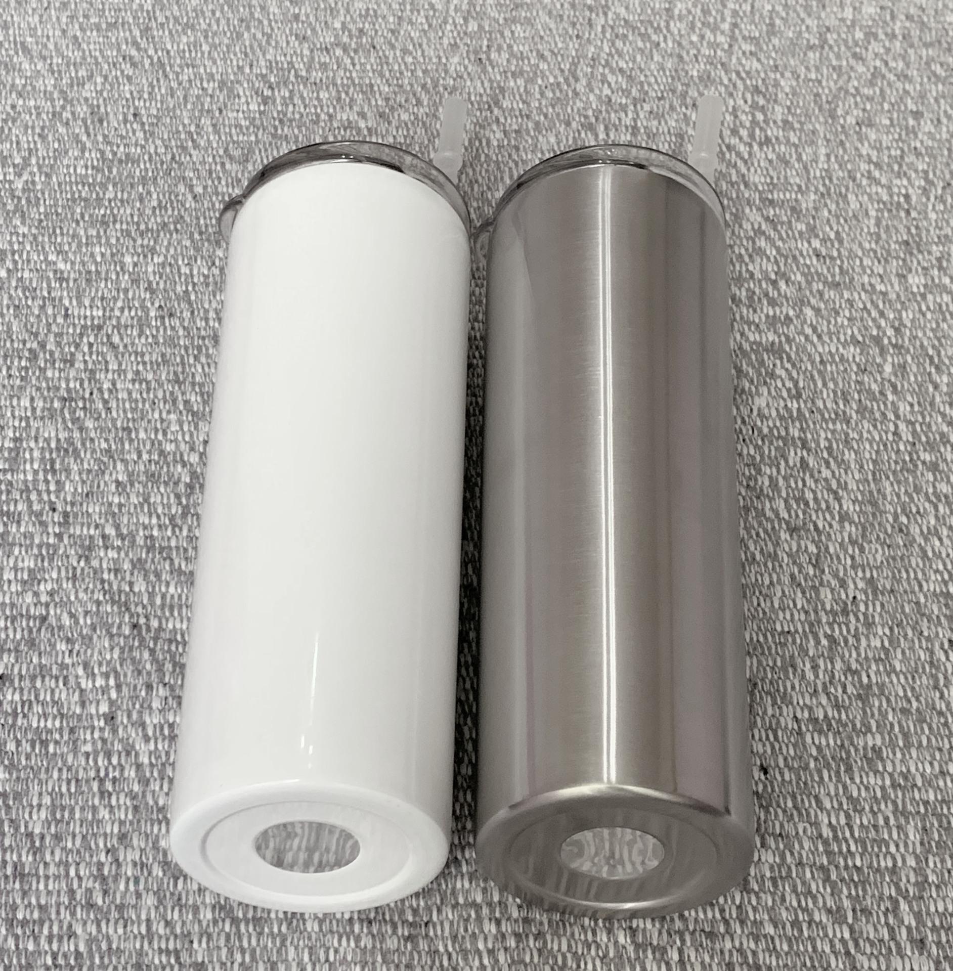 DÜZ! 20 oz Sublime Düz tumblers Paslanmaz Çelik Su Şişeleri Straw DIY Çift İzoleli Kahve Süt Bardaklar Mug A12 İçme