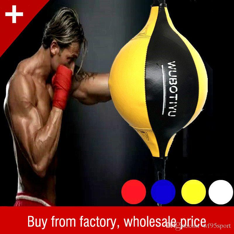 PU Boxtraining Boxsack Mann Fitness Muay Thai Double End Boxgeschwindigkeit Ball Birne Aufblasbare Boxausrüstung Bodybuilding