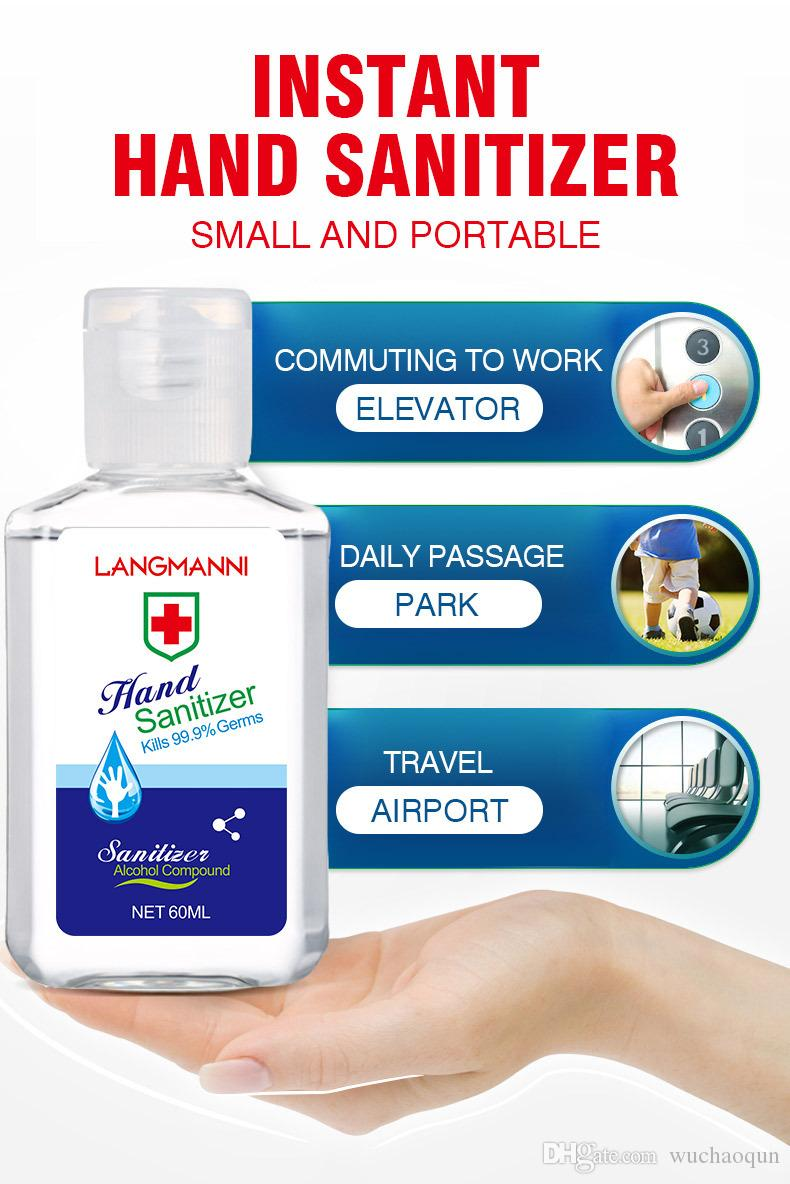 In Stock With Vitamin E 60ml 250ml 300ml 500ml Rinse-Free Germicidal Gel 99.99% Bacteriostatic Hand Sanitizer For Home Office DHL M038