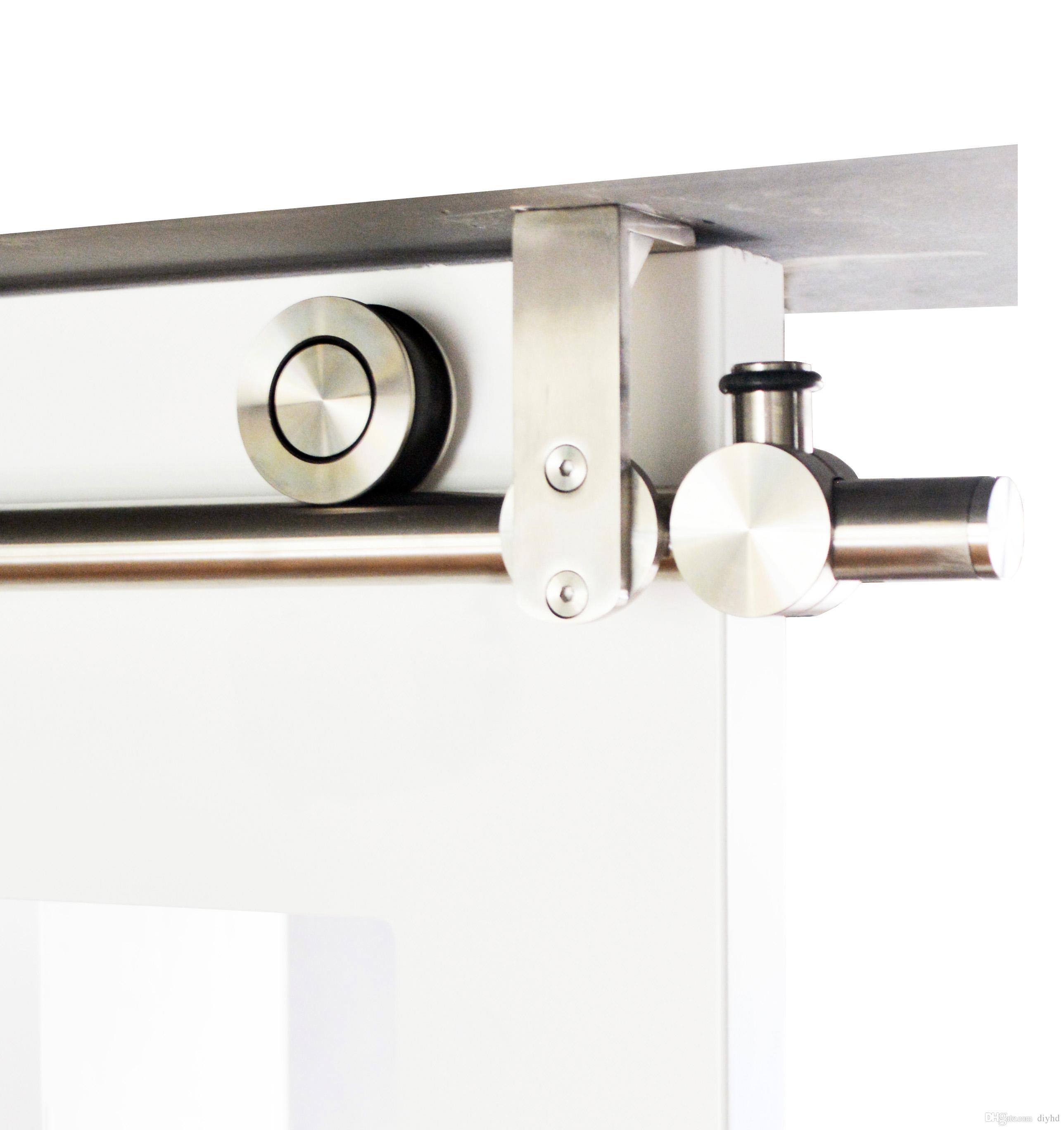 UK Double Door Sliding Barn Door Hardware Kit Door Hanging Rail 8FT 10FT 12FT