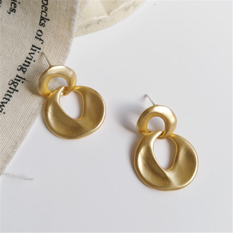 boucles d'oreille de la mode coréenne métal personnalité tempérament irrégulière boucles géométriques femmes accessoires