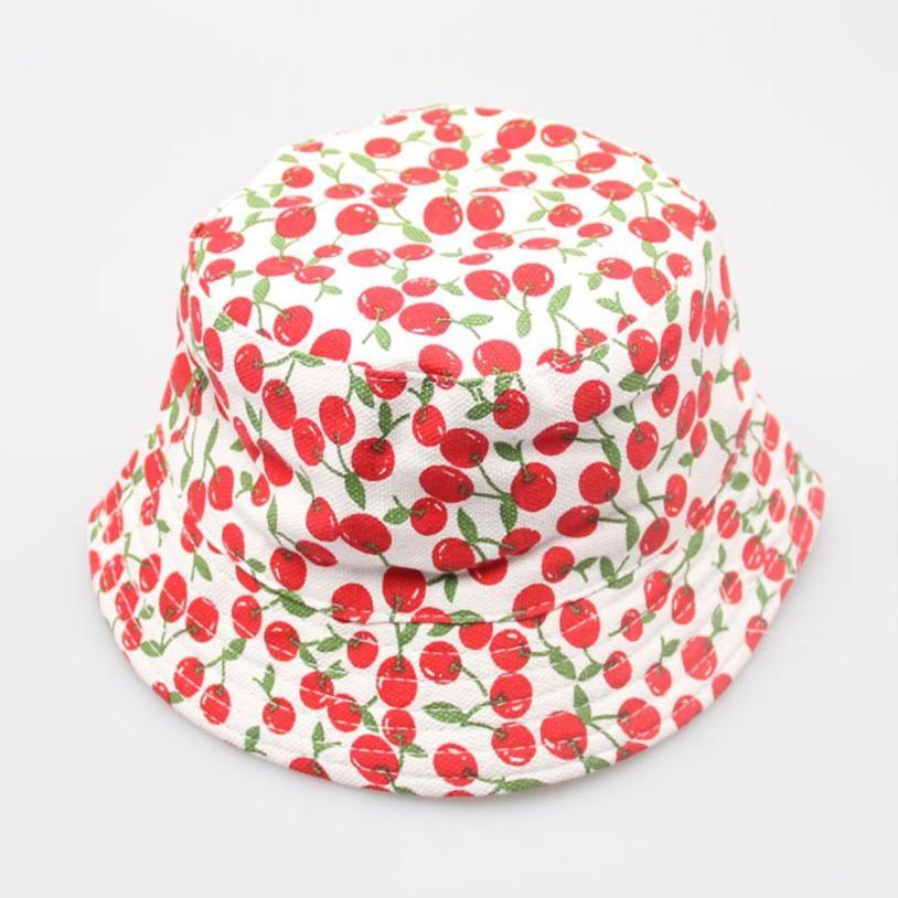 2018 hot sale Toddler Baby hats Kids Boys Girls Floral Pattern Bucket Hats Sun Helmet Cap JUN 26