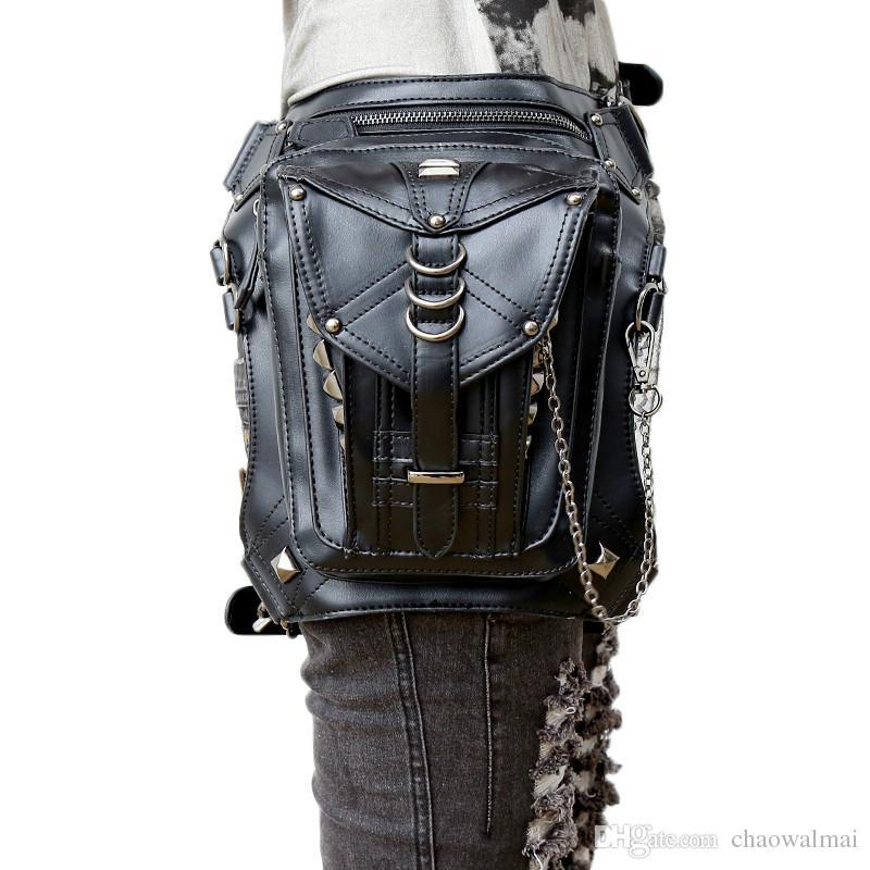 Steam Punk Bags Gothic Waist Bag for Men Women Cross Body Messenger Bag Retro Rock Shoulder Bag 2017 Hot Sale