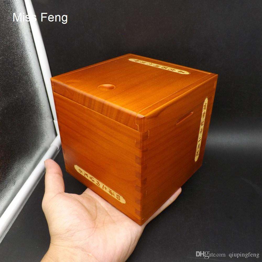 SH034 / Característica de la poesía de la cultura china 13 cm Madera de lujo Caja mágica Rompecabezas Mecanismo especial Juego Juguete Inteligencia IQ Rompecabezas