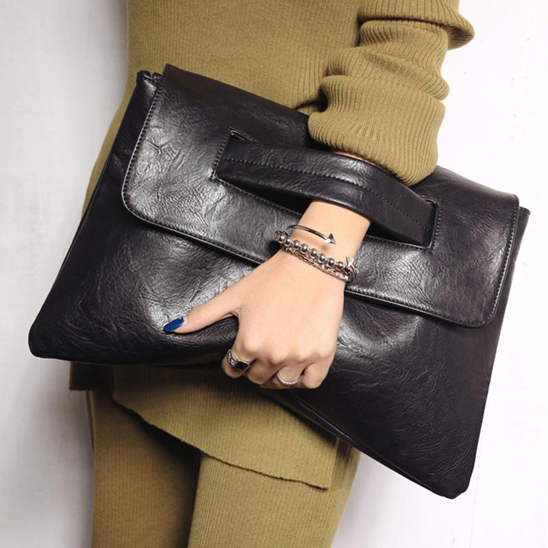 моды женщины дня Клатчи конверт мешки плеча PU кожаный мешок Кроссбоди больших дамы вместимости вечером кошелек