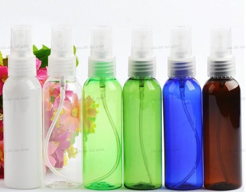 الحرة الشحن 60 مل فارغة من البلاستيك زجاجة بخاخ الجميلة ميست زجاجات العطور شفافة المياه مناسبة لتنفيذ الهواء المعطر LLFA
