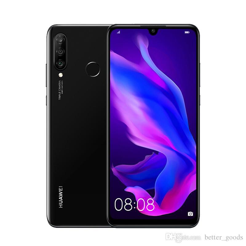 "Original Huawei Nova 4E 4G LTE Mobiltelefon 6 GB RAM 128GB ROM KIRIN 710 Octa Core Android 6.15 ""Vollbild 32.0mp AI 3340mAh Face ID Fingerprint Smart Handy"