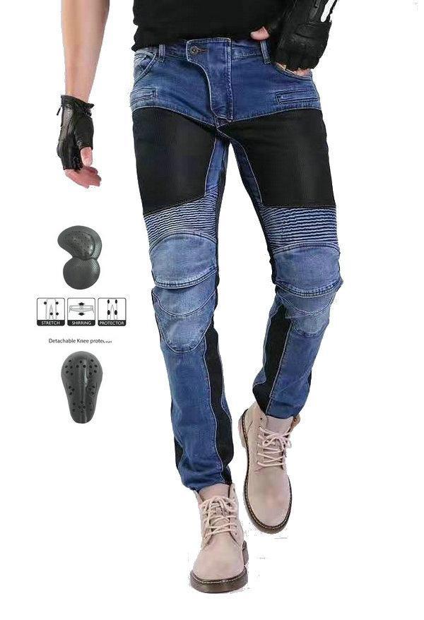 pantalones de montar motocicleta Volero PK-719 del verano de malla transpirable pantalones de protección Motorbiker diaria de ciclismo pantalones delgados ocasionales