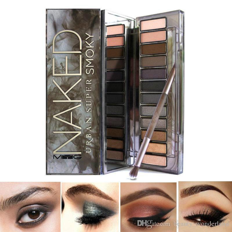 Factory Price!!! High-grade Brand Eyes Cosmetics Eyeshadow Pallete Shimmer Matte Eyeshadow naked Heat Smoky Makeup Eyes Easy to Wear