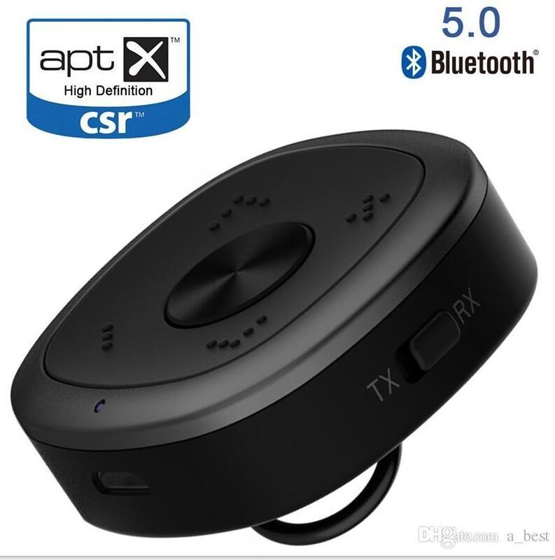 Nueva Bluetooth 5.0 receptor y el transmisor 2 en 1 aptX RSE HD Dual Stream de audio HD para TV Inicio Cadena de música