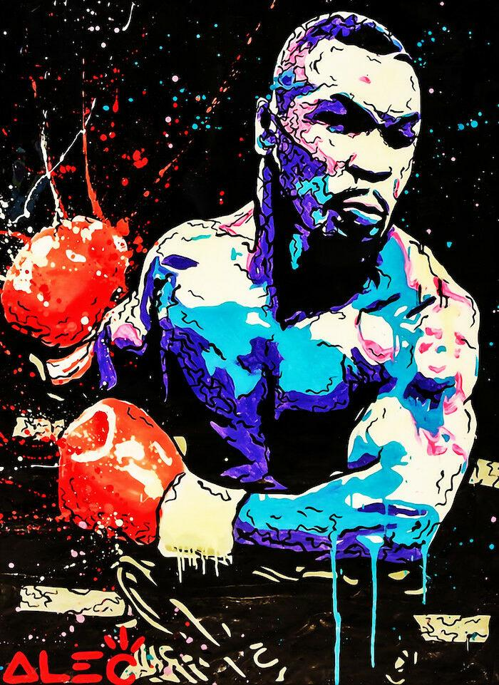 Alec Monopoly Graffiti art Mike Tyson Home Decor Handpainted &HD Print Oil Painting On Canvas Wall Art Canvas Pictures 200202