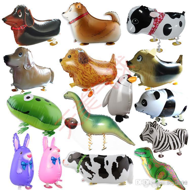 Animal Animal de estimação Animal Animal Helium Folha de Alumínio Balão Automático Selagem Kids Baloon Brinquedos Presente Para O Natal Casamento Aniversário Fontes De Festa de Aniversário