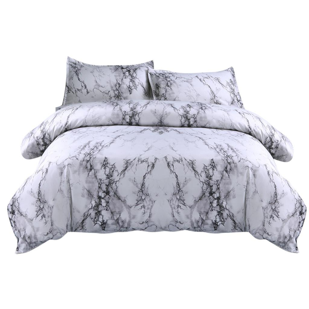 2020 Sheet 2pillowcase Simple Marble Bedding Duvet Cover Set