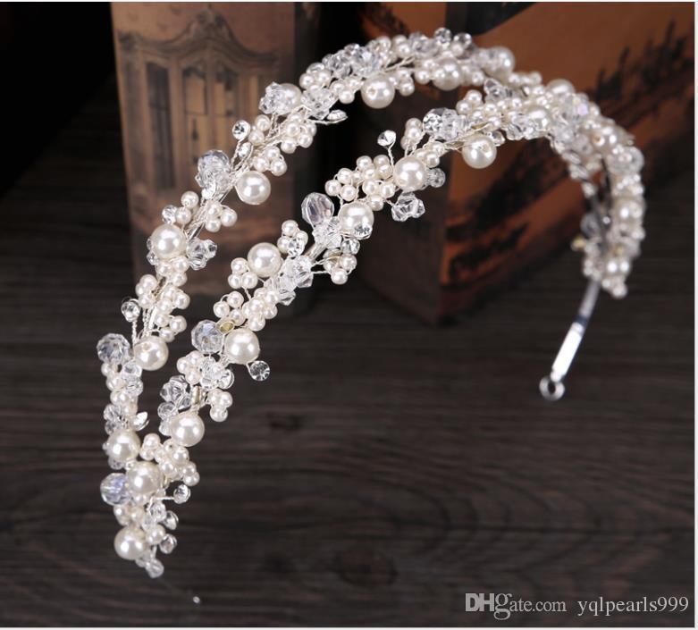 New Bridal Headwear Double Row Handmade Buckle Bridal Princess Hair Accessories Wedding Accessories Crown Hair Accessories